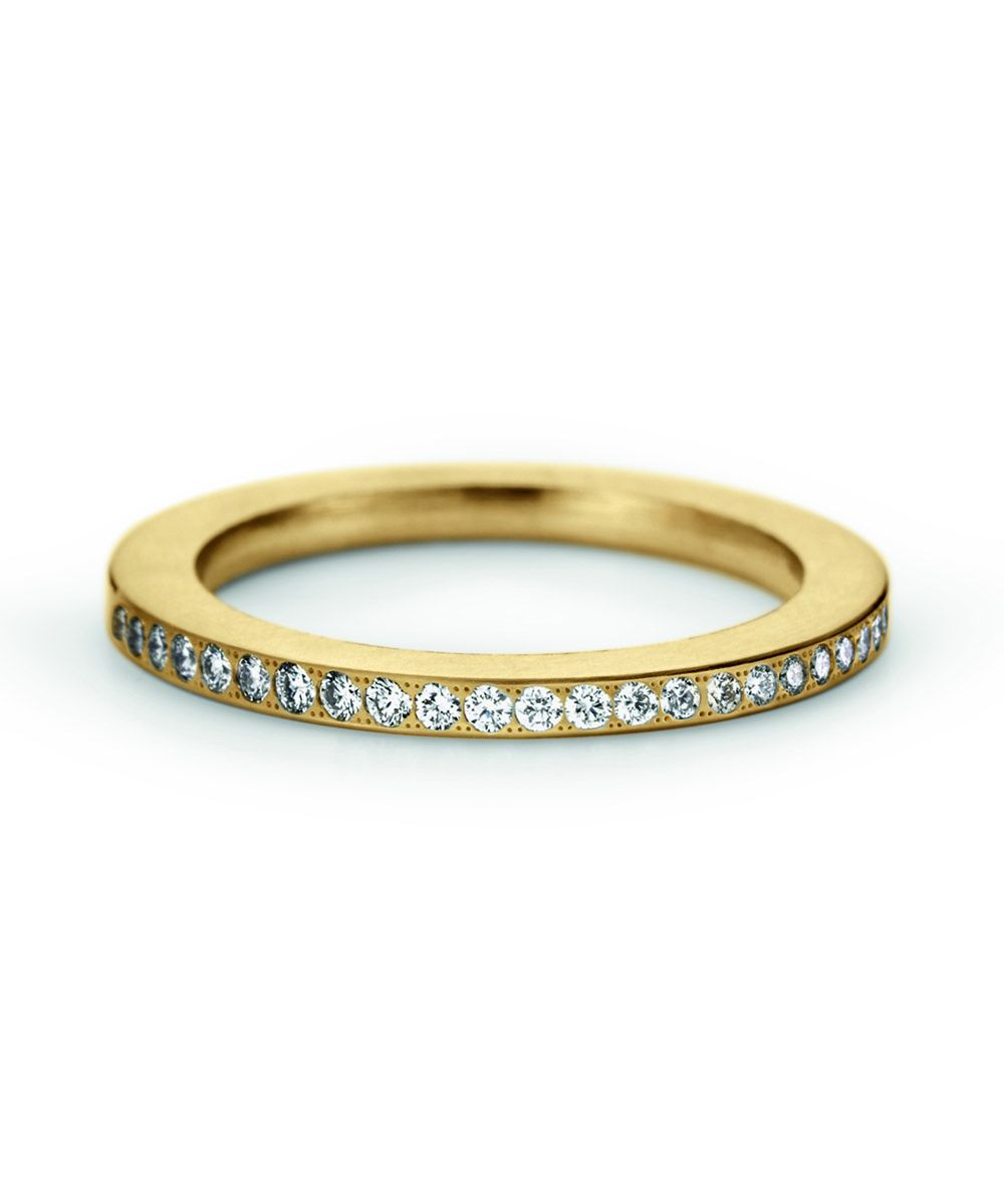Niessing Satellite Color Rechteck Ring Classic Yellow Größe 54 0,10ct