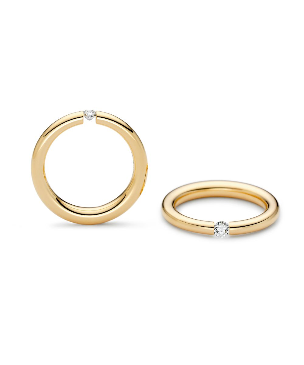 Niessing Spannring Antares Classic Yellow Größe 53 0,12ct