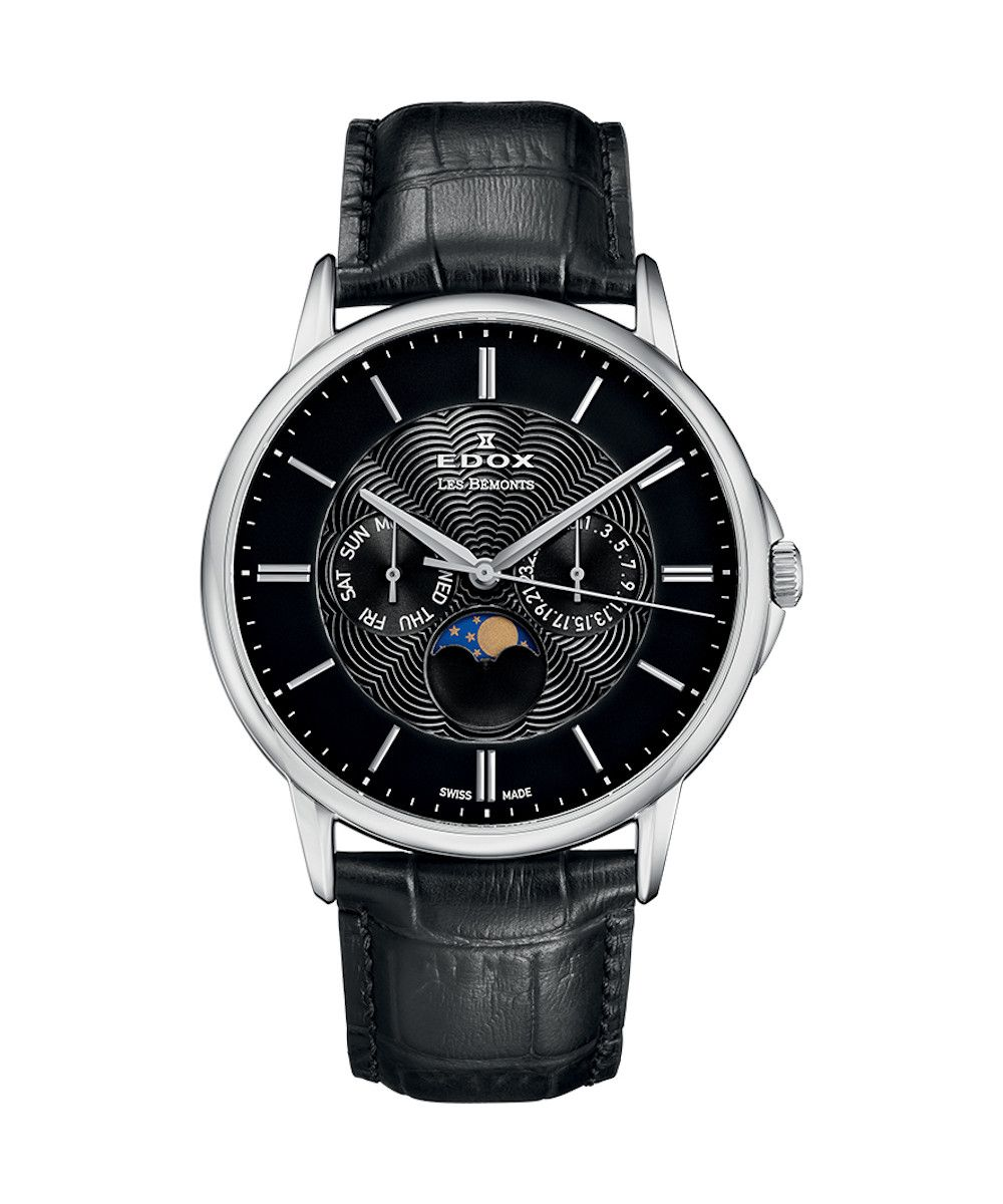 Edox Les Bemonts Moon Phase Complication - 40002-3-NIN